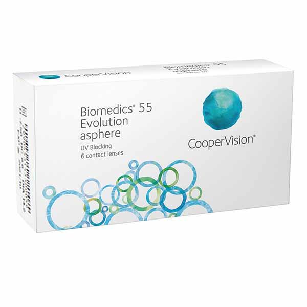 Biomedics 55 Evolution asphere (6 линз)